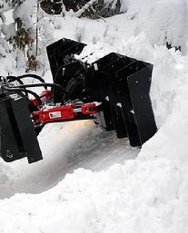 SNOW MOTION™ Skid Steer Snow Plows move MASSIVE AMOUNTS of SNOW!